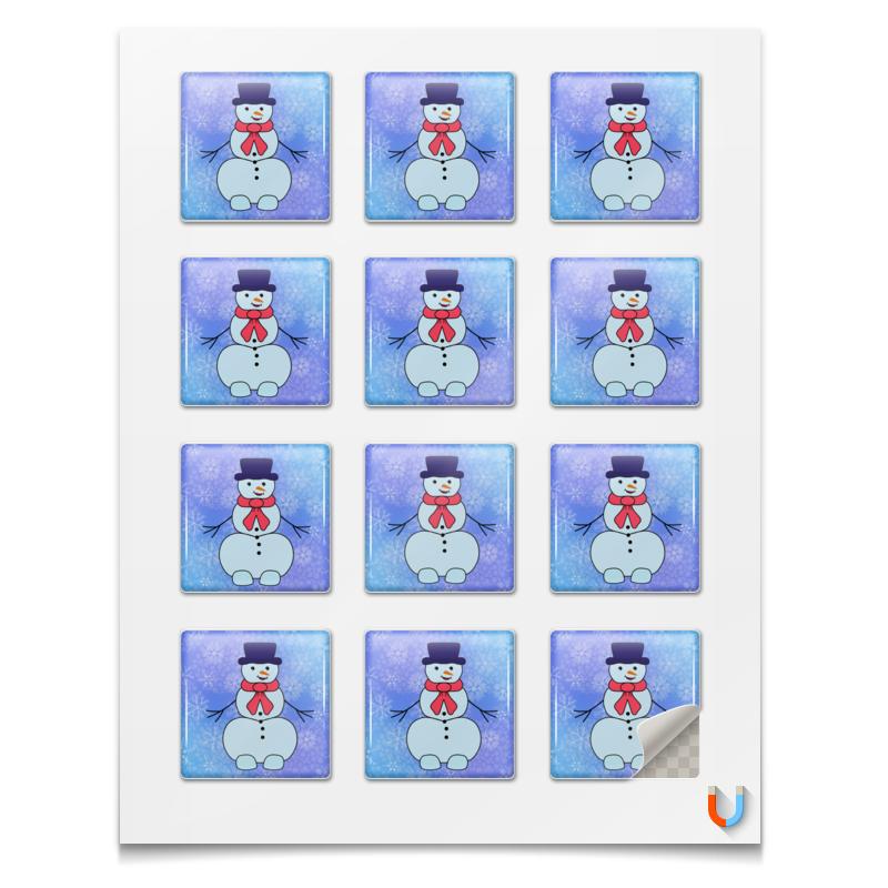 Printio Магниты квадратные 5×5 см Снеговик