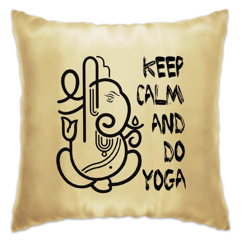 Printio Подушка Йога / keep calm