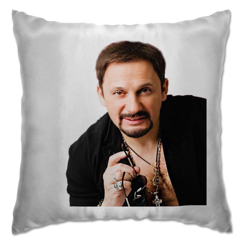 Printio Подушка Стас михайлов. в черной рубашке. очень красивый!