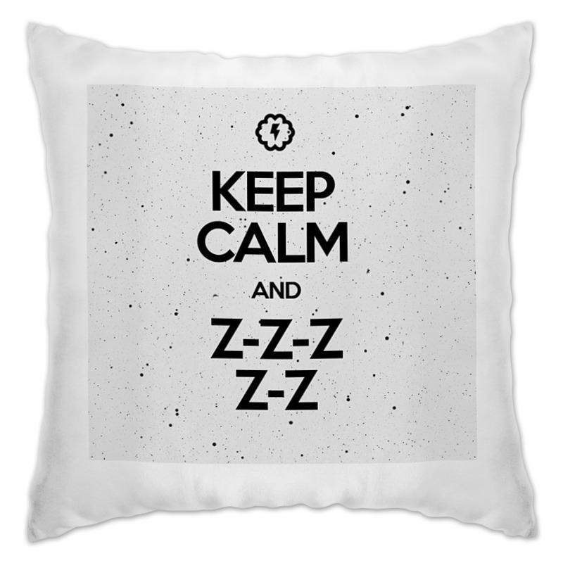 Фото - Printio Подушка Keep calm and zzz by braine printio подушка me part 1 by brainy
