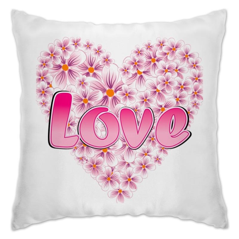 Printio Подушка Любовь из цветов