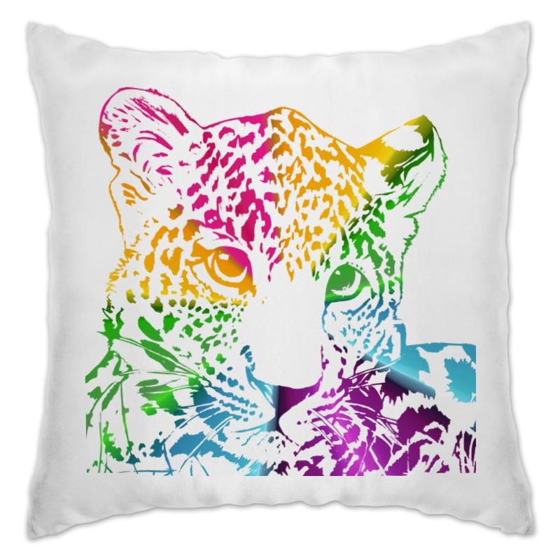 Printio Подушка Радужный леопард