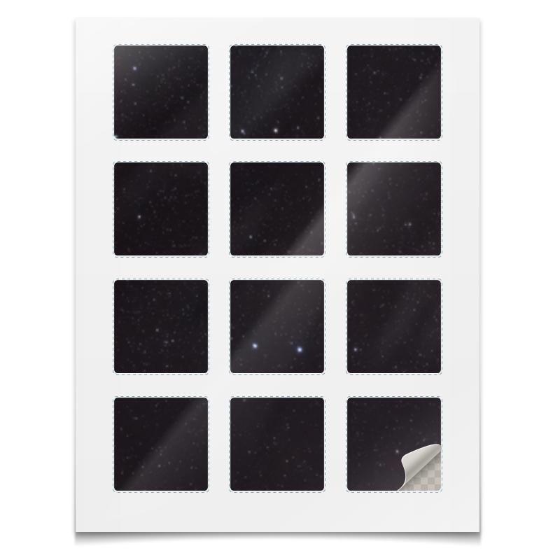 Printio Наклейки квадратные 5×5 см Наклейки космос