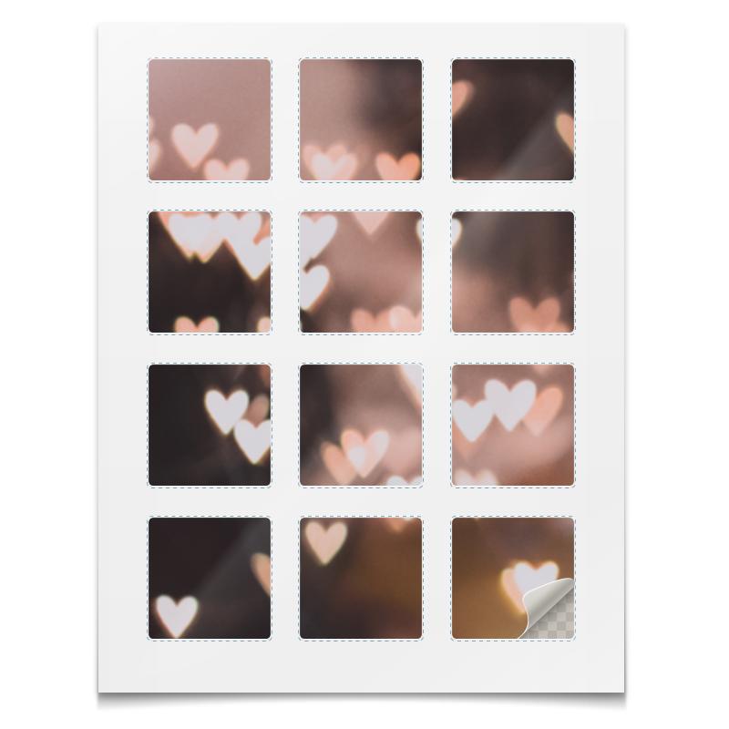 Printio Наклейки квадратные 5×5 см Наклейки сердца