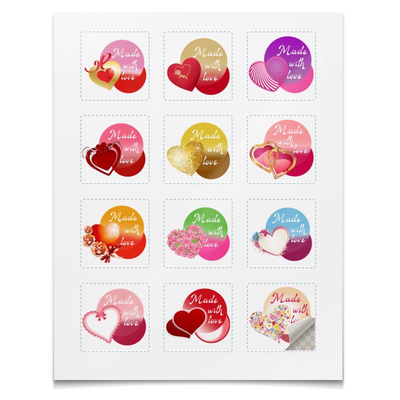 Printio Наклейки квадратные 5×5 см Коллекция сердца