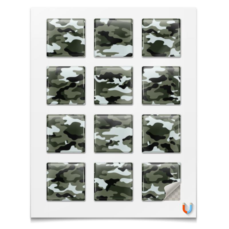 printio шоколадка 3 5×3 5 см маина радость Printio Наклейки квадратные 5×5 см Камуфляж 3