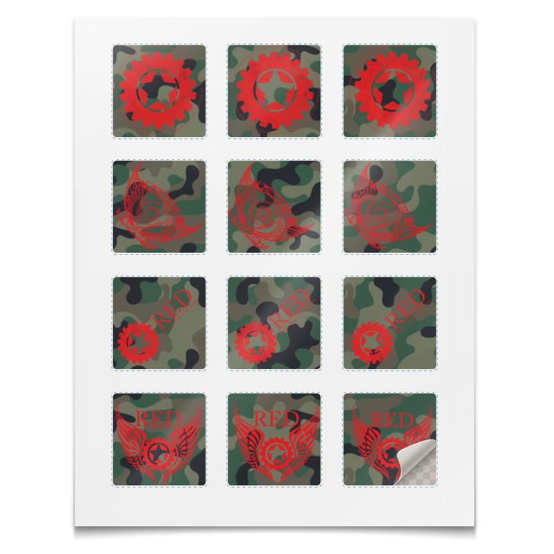 Printio Наклейки квадратные 5×5 см Наклейки red's logo мяликова гульнара фаязовна русский на 5 russian 5