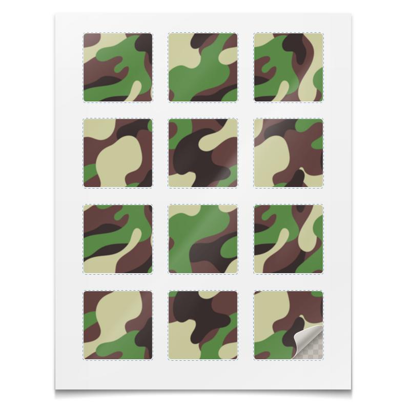 Printio Наклейки квадратные 5×5 см Наклейки камуфляж