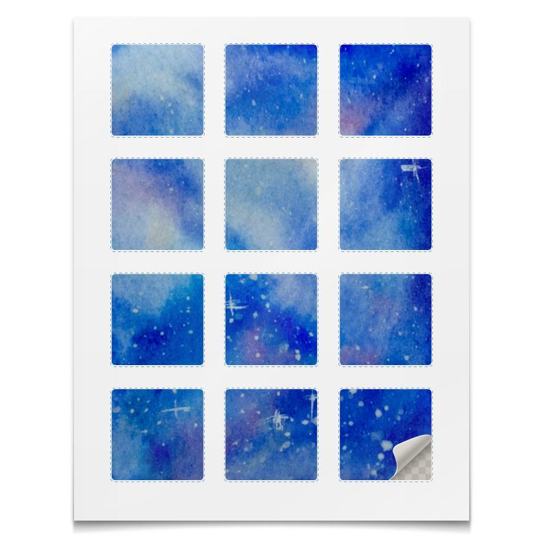 Printio Наклейки квадратные 5×5 см Космос