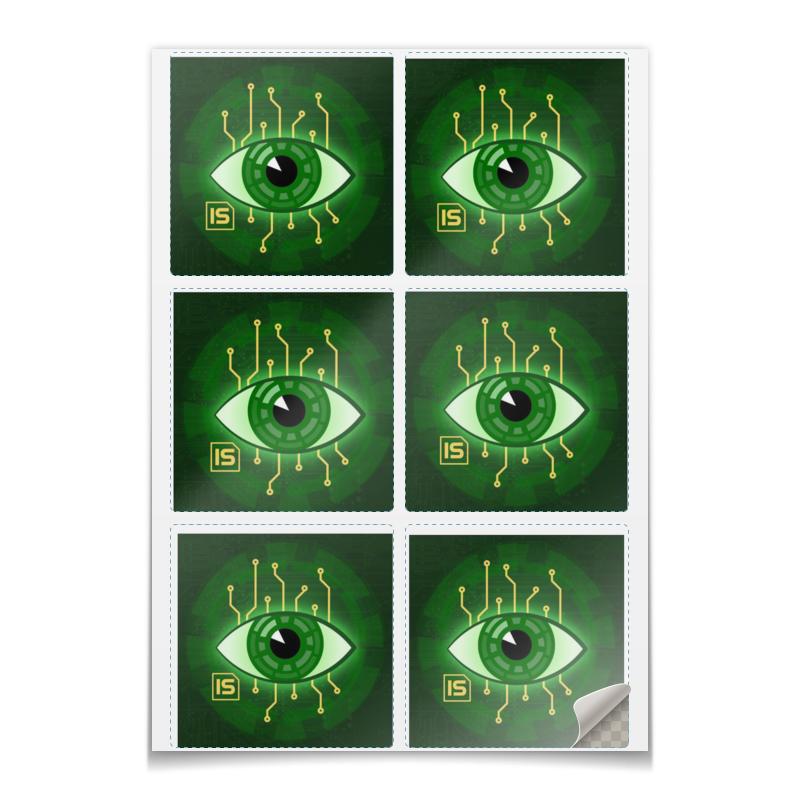 Printio Наклейки квадратные 9.5×9.5 см Наклейки поибэшечка