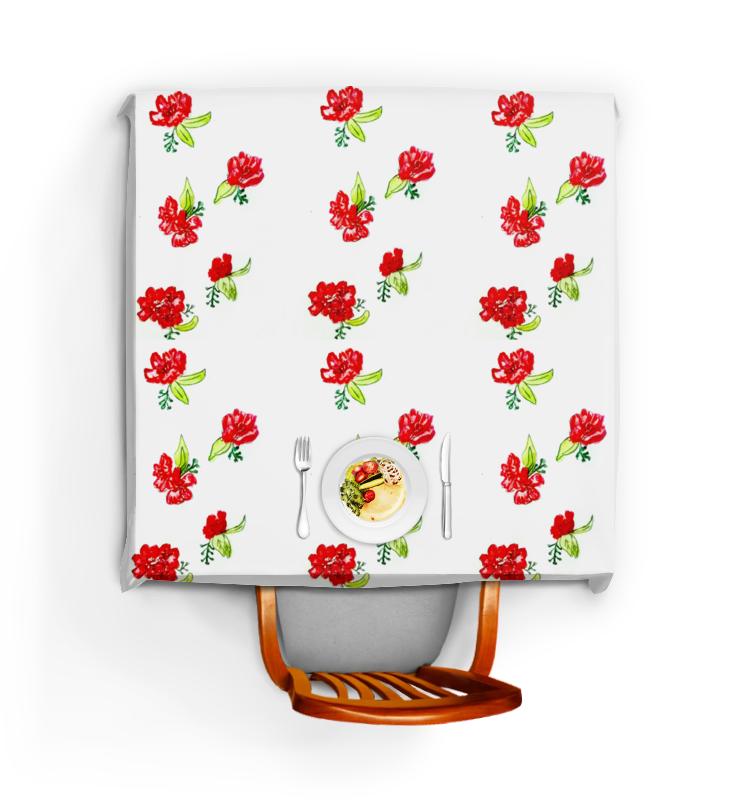 Printio Скатерть квадратная Скатерть красные цветы