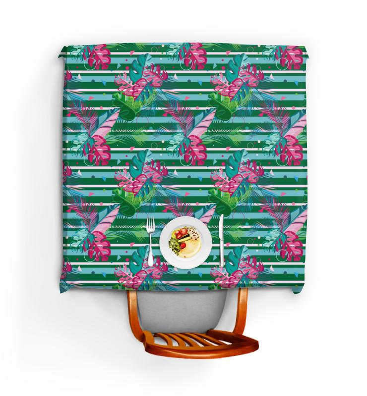 Фото - Printio Скатерть квадратная Полосатые тропики printio подушка для шеи полосатые тропики