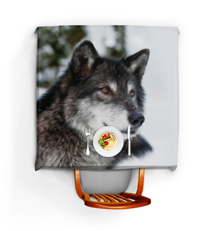 printio серый волк 1 Printio Скатерть квадратная Серый волк