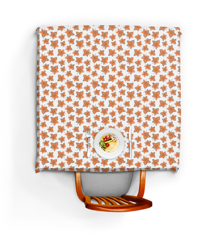 Printio Скатерть квадратная Кленовые листья оранжевые