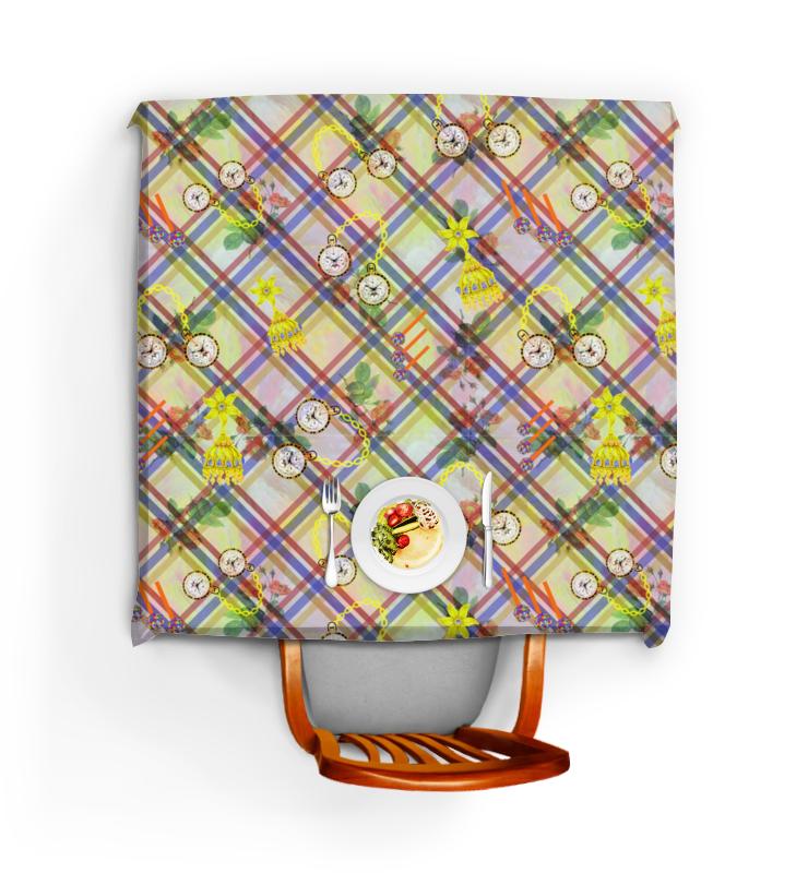 Printio Скатерть квадратная Часы и цветы