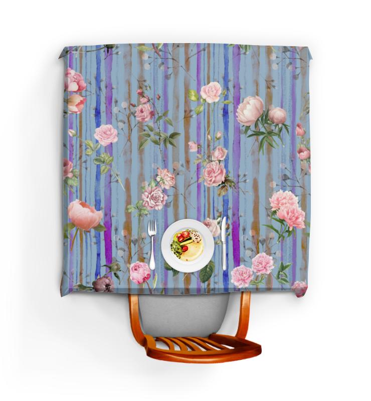 Фото - Printio Скатерть квадратная Прохладные цветы printio скатерть квадратная английский бульдог