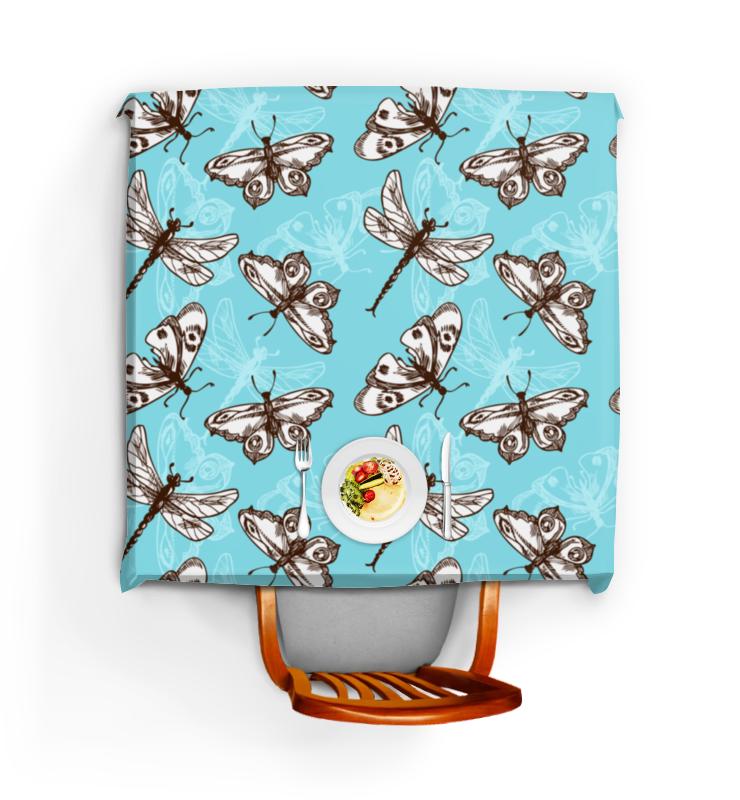 Printio Скатерть квадратная Бабочки и стрекозы