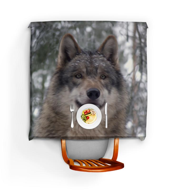Printio Скатерть квадратная Волк в лесу