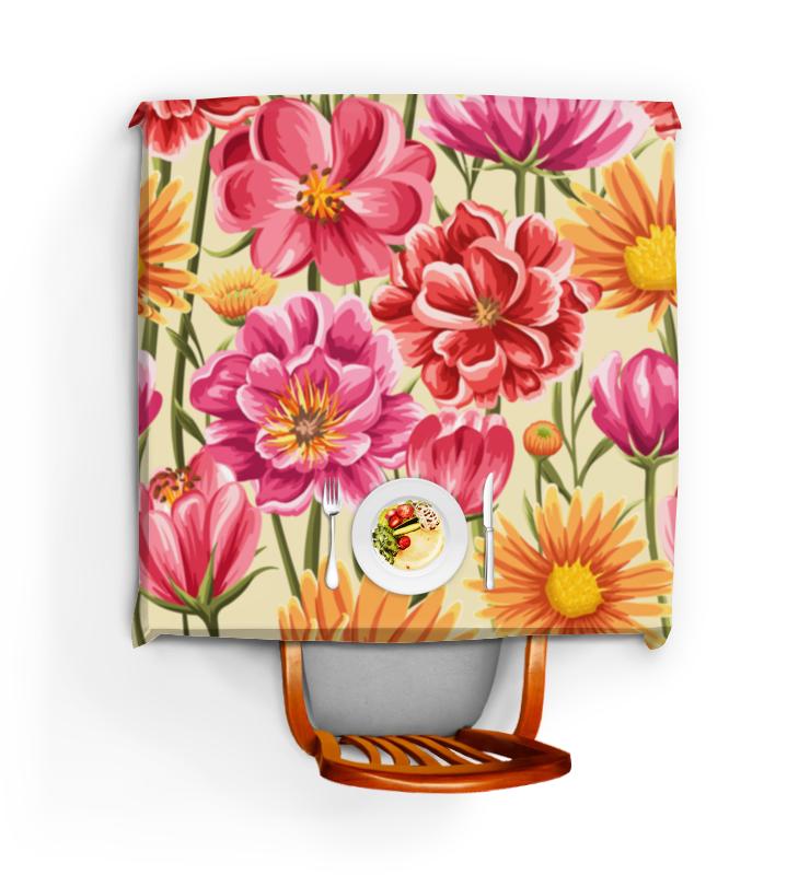 Printio Скатерть квадратная Садовые цветы