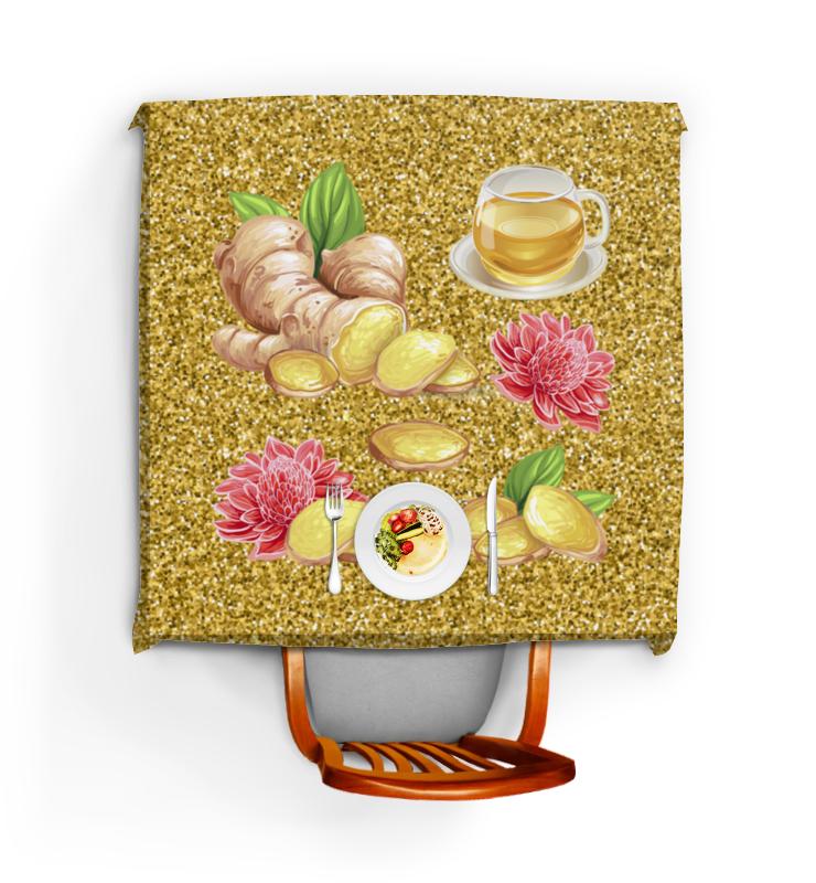 Printio Скатерть квадратная Имбирь и цветы
