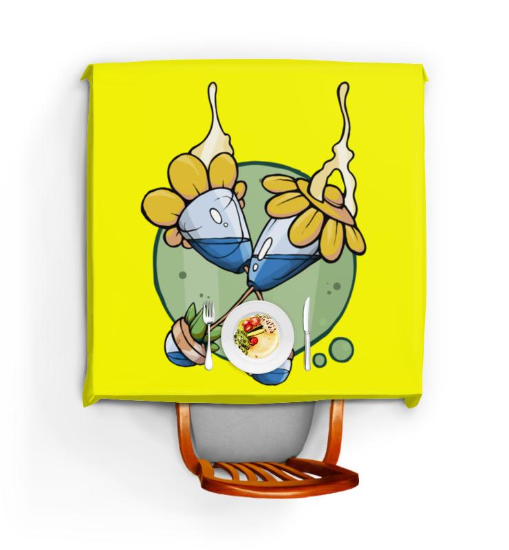 Printio Скатерть квадратная Цветочные узоры 4