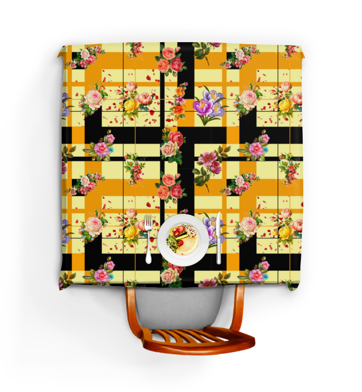 Фото - Printio Скатерть квадратная Узор из цветочков printio скатерть квадратная английский бульдог