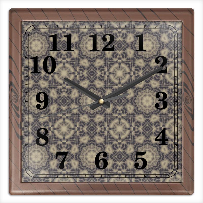 Printio Часы квадратные из пластика (под дерево) Noisy printio часы квадратные из пластика под дерево часы йода