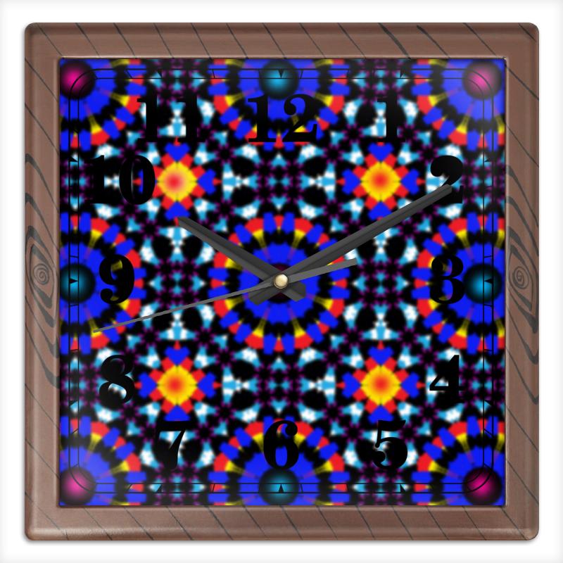 Printio Часы квадратные из пластика (под дерево) Ультрамарин printio часы квадратные из пластика под дерево часы йода