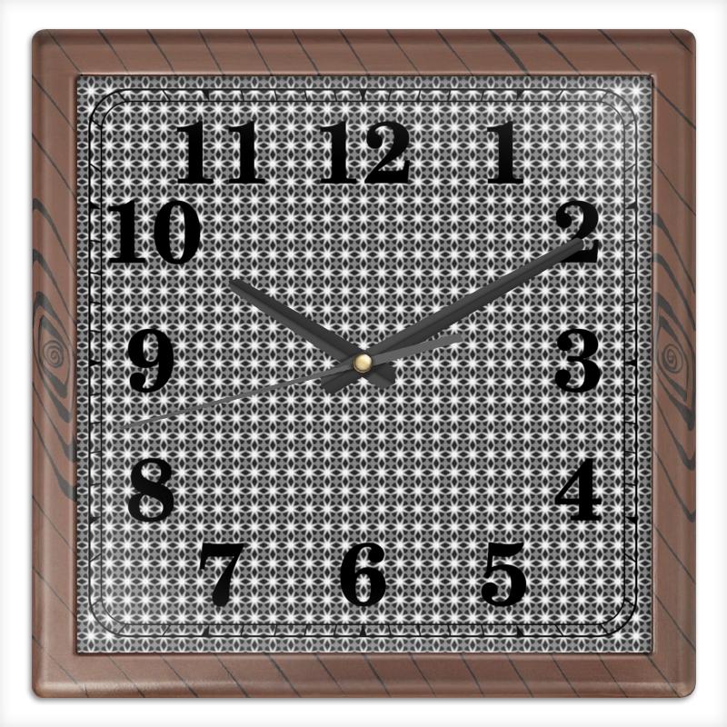 Printio Часы квадратные из пластика (под дерево) Valentine printio часы квадратные из пластика под дерево часы йода