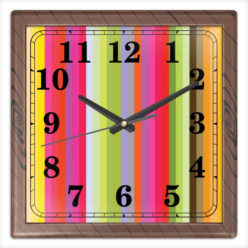 Printio Часы квадратные из пластика (под дерево) Флюид 1 printio часы квадратные из пластика под дерево разводы красок