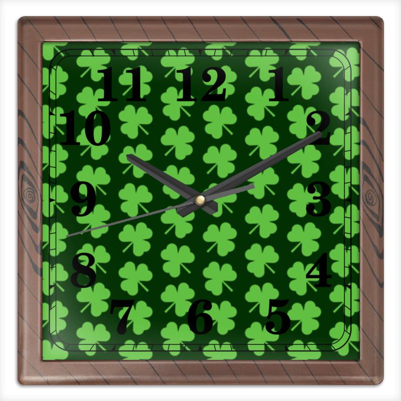 Printio Часы квадратные из пластика (под дерево) Без названия printio часы квадратные из пластика под дерево разводы красок