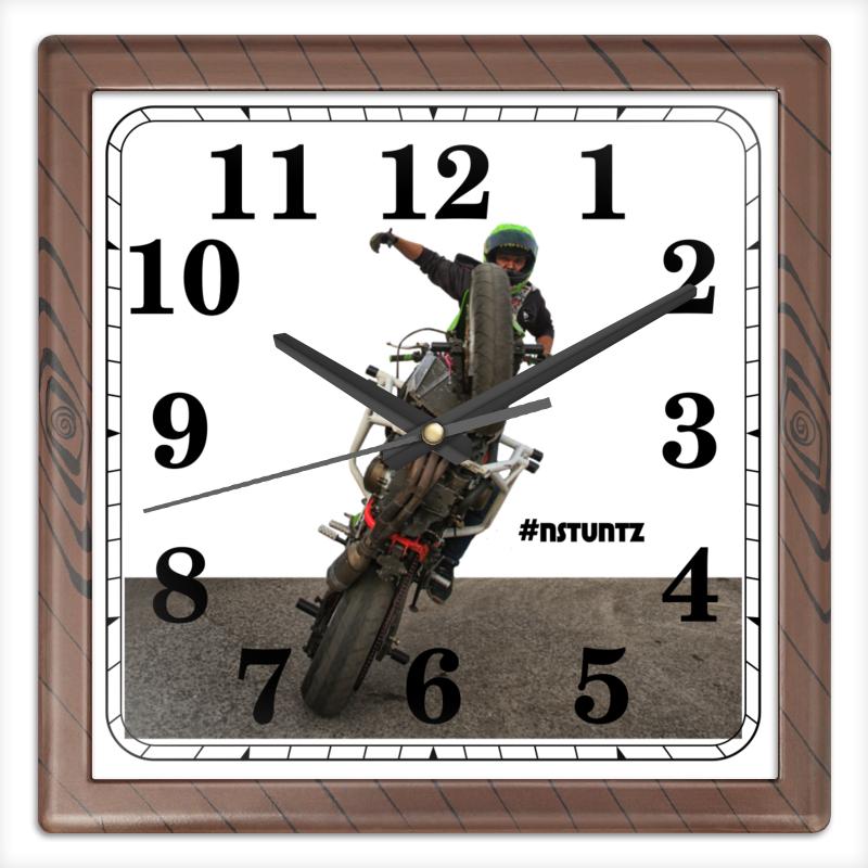 Printio Часы квадратные из пластика (под дерево) #nstuntz printio часы квадратные из пластика под дерево разводы красок