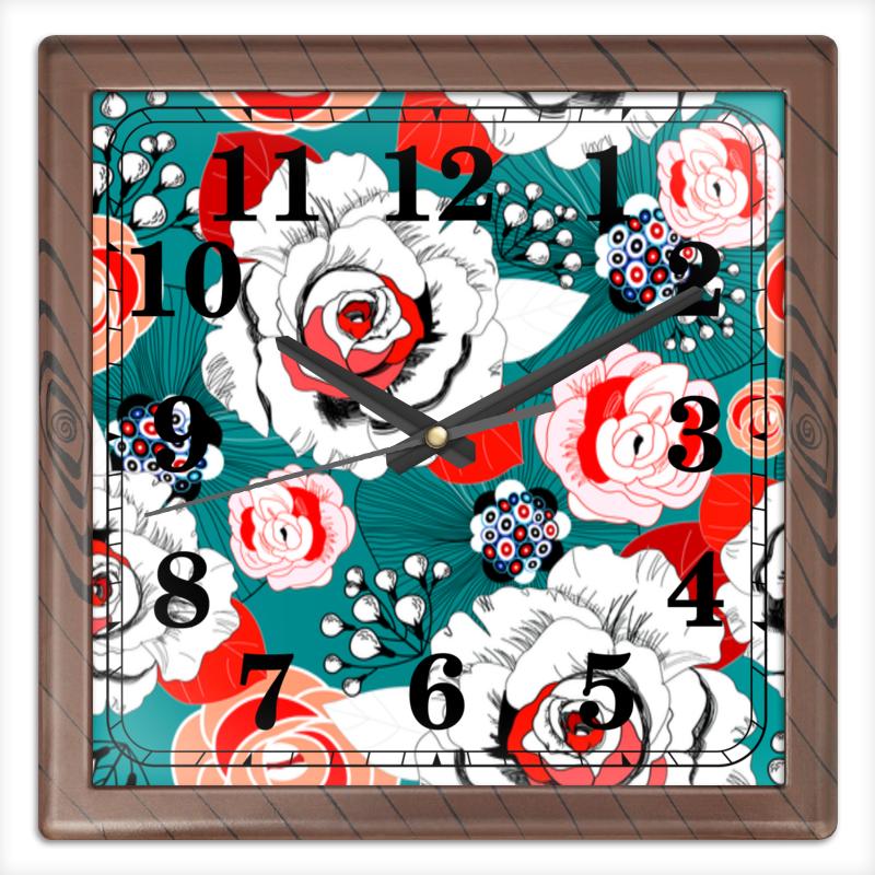 Printio Часы квадратные из пластика (под дерево) Fashion flower printio часы квадратные из пластика под дерево часы йода