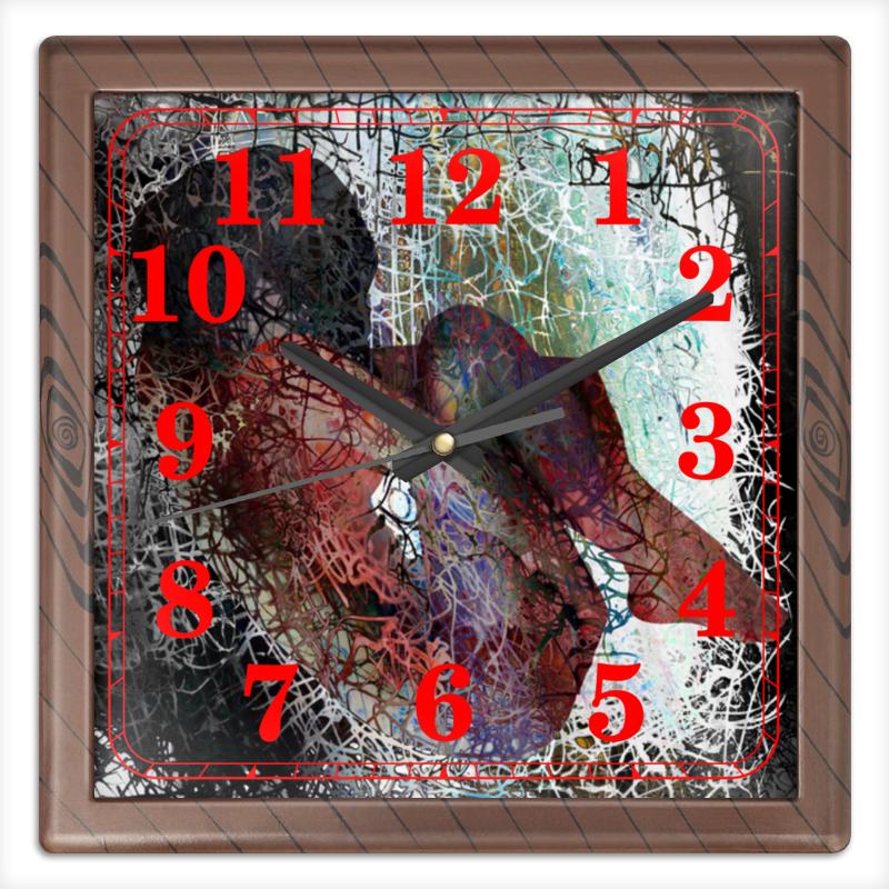 Printio Часы квадратные из пластика (под дерево) Падение из хаоса printio часы квадратные из пластика под дерево разводы красок