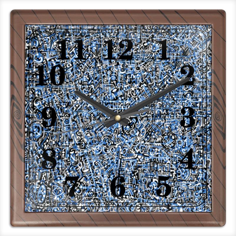 Printio Часы квадратные из пластика (под дерево) Сверхчеловеческие формы printio часы квадратные из пластика под дерево разводы красок