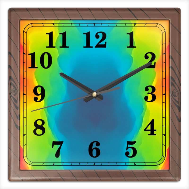 Printio Часы квадратные из пластика (под дерево) Разводы красок printio часы квадратные из пластика под дерево разводы красок