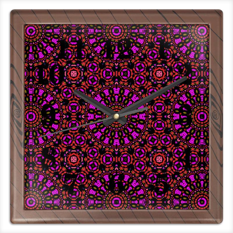 Printio Часы квадратные из пластика (под дерево) Purple printio часы квадратные из пластика под дерево часы йода
