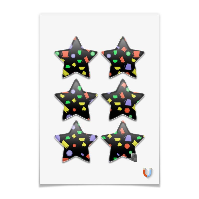 Printio Магниты-звёзды 7.5×7.5 см Чашки