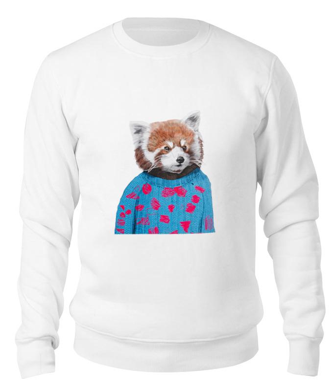 Printio Свитшот унисекс хлопковый Красная панда