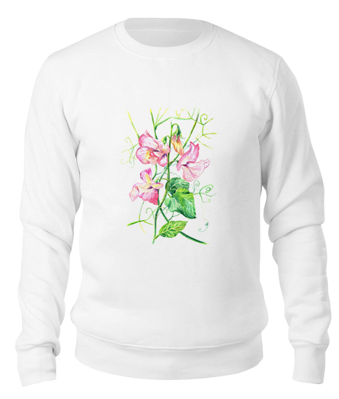 Printio Свитшот унисекс хлопковый Цветы душистый горошек