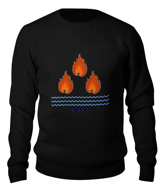 Printio Свитшот унисекс хлопковый Страна огней. азербайджан, эмблема баку