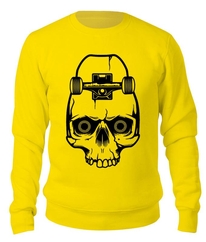 printio skateboard skull Printio Свитшот унисекс хлопковый Skateboard skull