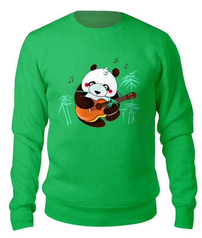 Printio Свитшот унисекс хлопковый Панда с гитарой