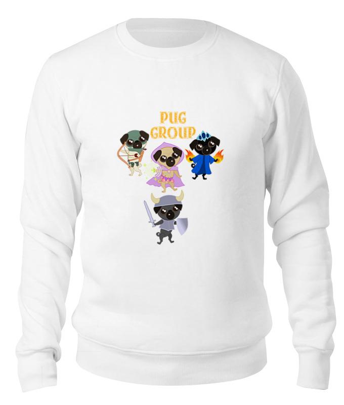 Printio Свитшот унисекс хлопковый Мопсы — герои. pug group. printio свитшот унисекс хлопковый pug fan print