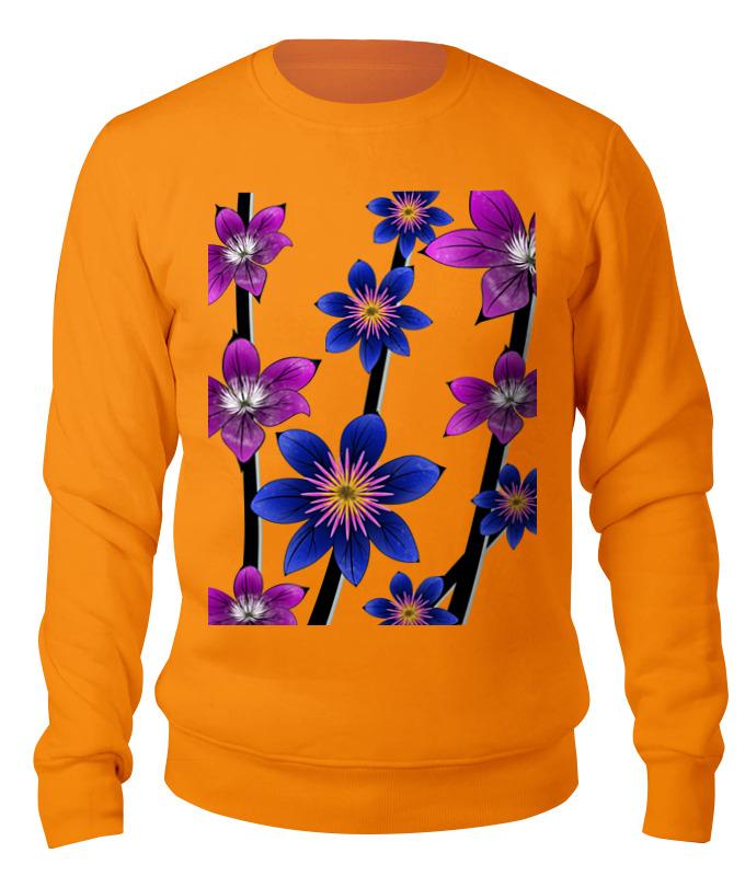 Printio Свитшот унисекс хлопковый Синие цветы