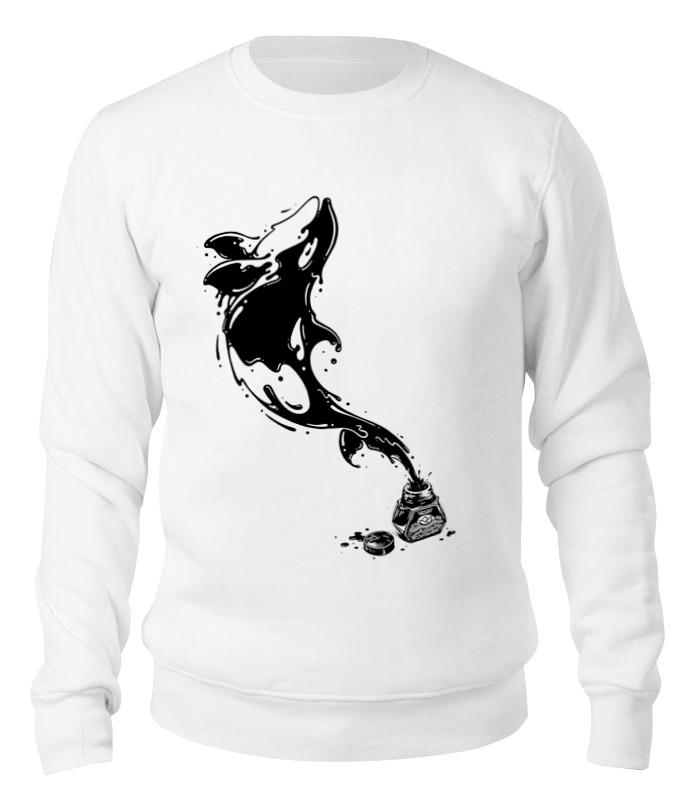 Printio Свитшот унисекс хлопковый Чернильный дельфин
