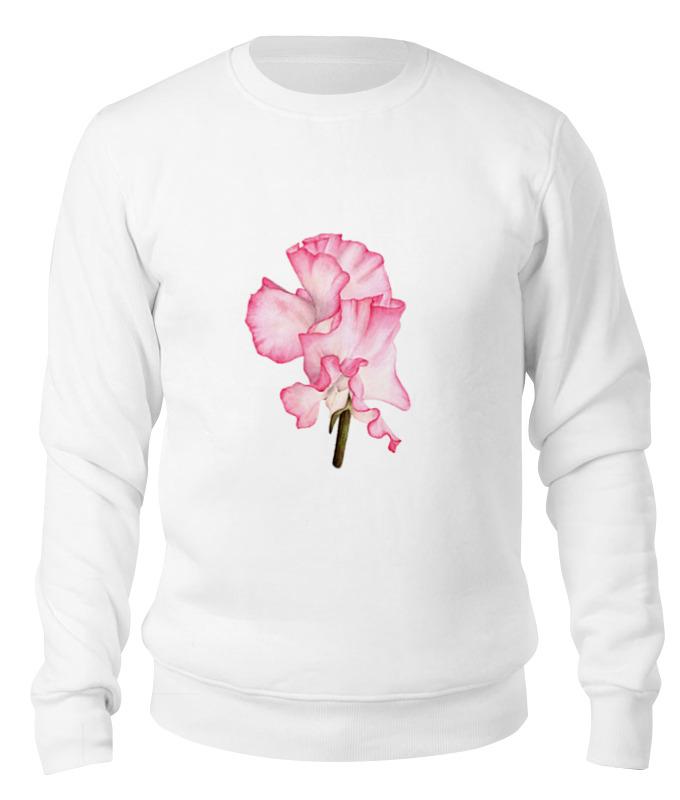 Printio Свитшот унисекс хлопковый Ботаническая иллюстрация цветок душистый горошек