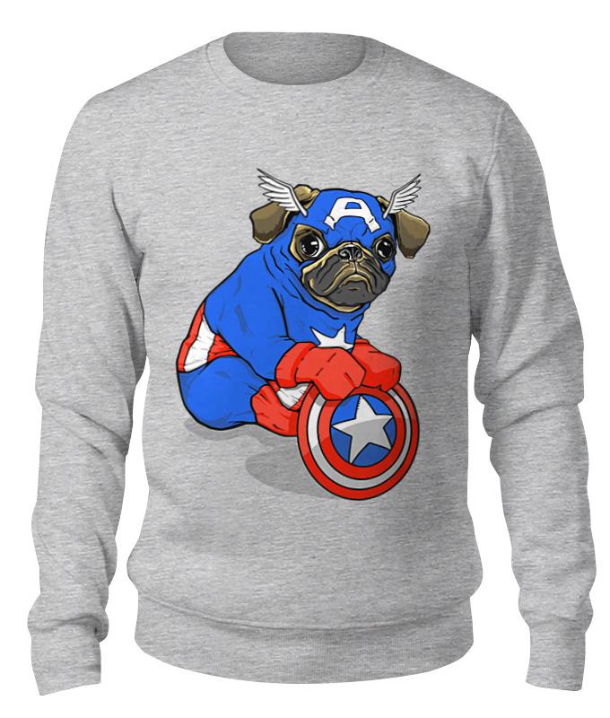 Printio Свитшот унисекс хлопковый Captain pug printio свитшот унисекс хлопковый pug fan print