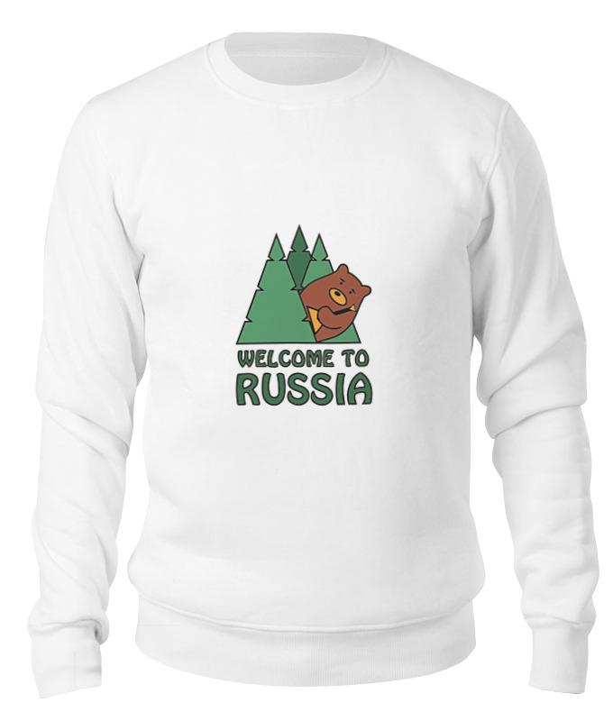 Printio Свитшот унисекс хлопковый Welcome to russia