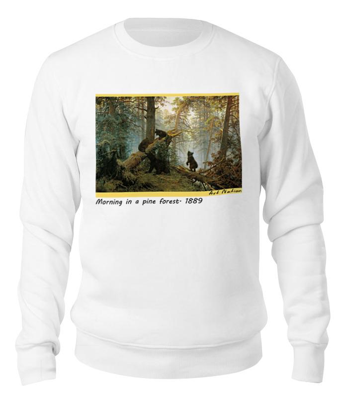 Printio Свитшот унисекс хлопковый Утро в сосновом лесу